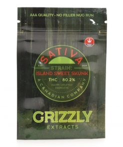 Island Sweet Skunk Shatter – Grizzly Extracts
